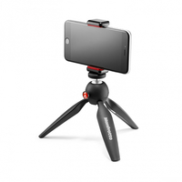 Мини штатив Pixi с креплением MANFROTTO MKPIXICLAMP-BK MINI TRIPOD BLACK WITH UNIVERSAL SMARTPHONE CLAMP