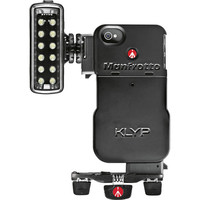 Бампер iPhone с LED прибором и штативом MANFROTTO MKPL120KLYP0 Acc. KLYP CASE + ML120 + POCKET