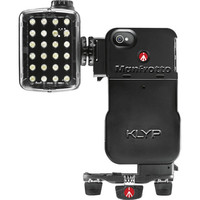 Бампер iPhone с LED прибором и штативом MANFROTTO MKPLKLYP0 Acc. KLYP CASE + ML240 + POCKET